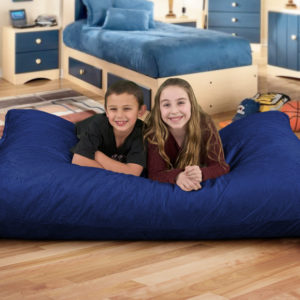 electric blue suede pillow for sale