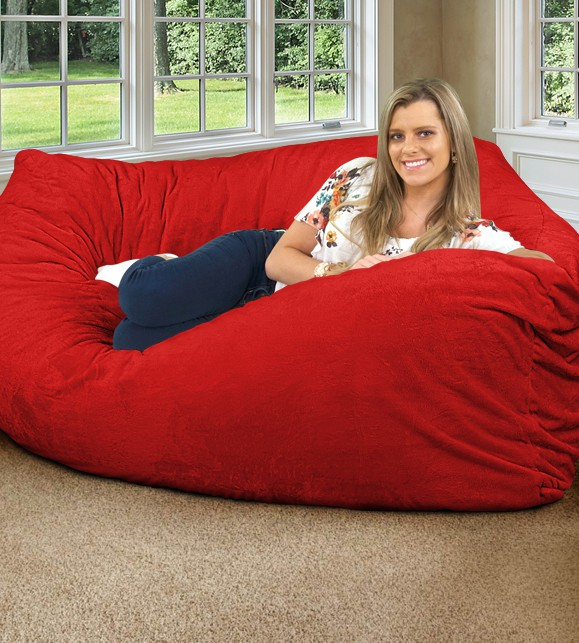 red corner bean bag chair for adults