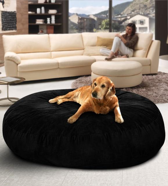 black suede dog bed for sale