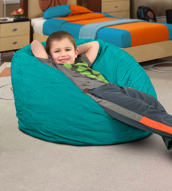 Ultimate sack 6000 bean bag chair custom bean bag chairs for Personalized kids soft chairs